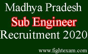 mp sub engineer recruitment 2020