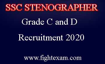 ssc stenographer recruitment 2020