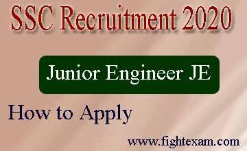 ssc je recruitment 2020